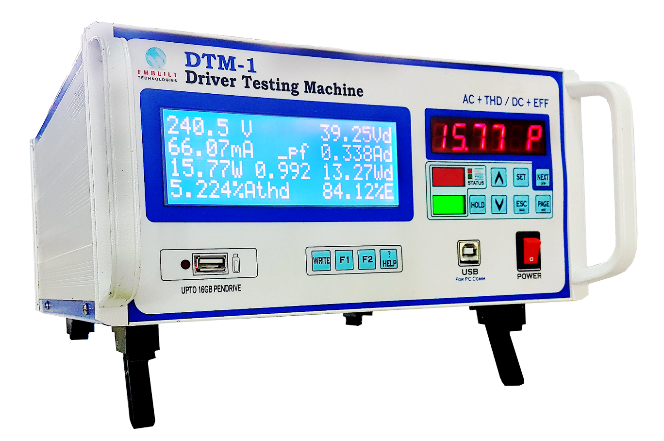 Testing Equipments Led Driver With Thd Measurement 6 Channels Phase Shift Control For Of Drivers