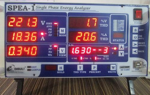 Amps (Current) 3rd Harmonics Value of 0.5 Watt Led Bulb by SEPA-1