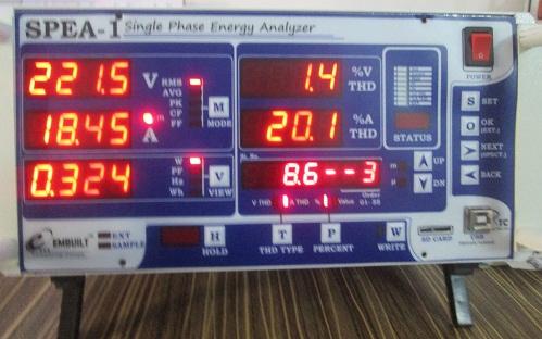 AMPS(Current) 3rd Harmonics % of 0.5 Watt LED Bulb